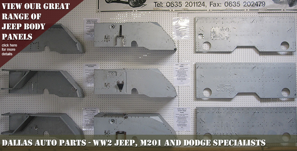 Military Jeeps Willys Ford And Hotchkiss For Sale >> WW2 Willys & Ford Jeep Parts   M201 & Dodge Specialists